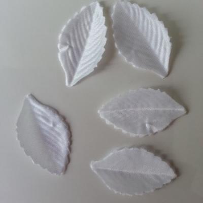 Lot de 5 feuilles en tissu  30*15mm blanc