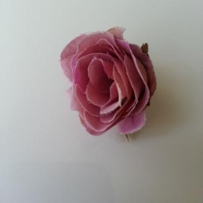 fleur artificielle en tissu 40mm vieux rose
