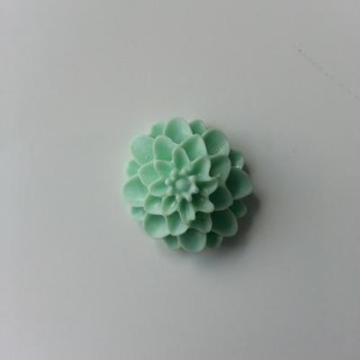 fleur  en résine  20mm vert pastel
