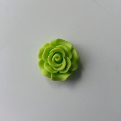 fleur  en résine  20mm vert