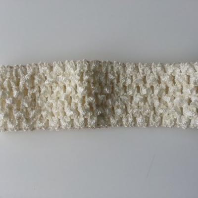 Bandeau crochet extensible ivoire