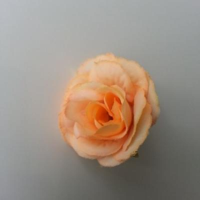 fleur en tissu 40mm peche