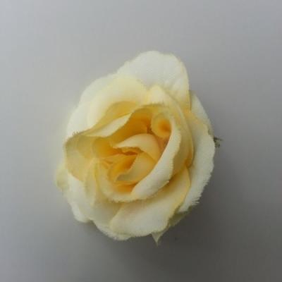 fleur en tissu 40mm ivoire foncé