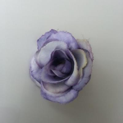 fleur en tissu 40mm mauve