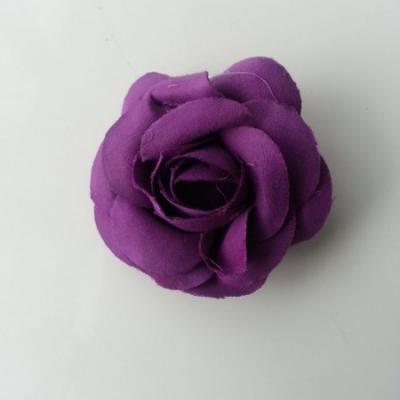 fleur en tissu violet 50mm