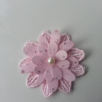 double fleur en dentelle rose 50mm