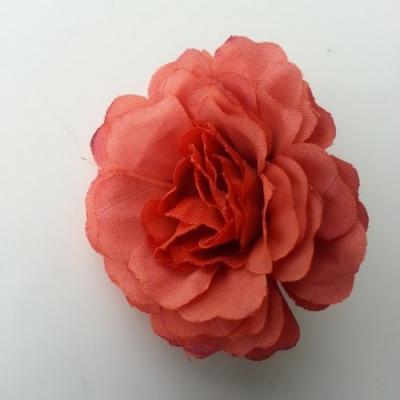 fleur artificielle en tissu marron cuivré 55mm