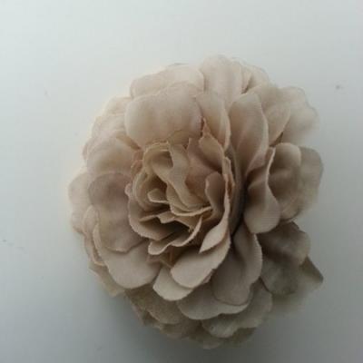 fleur artificielle en tissu marron clair 55mm