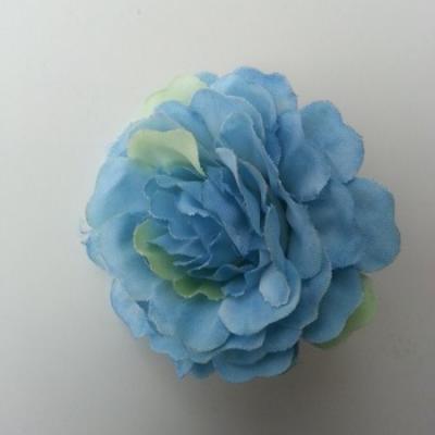 fleur artificielle en tissu bleu 55mm