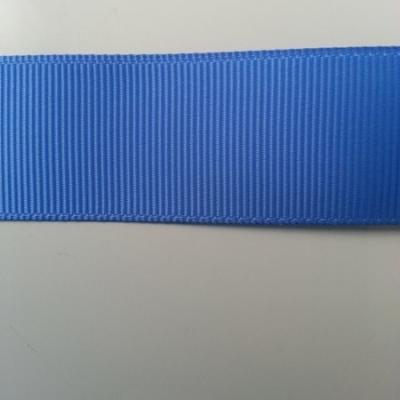 1 mètre de  ruban gros grain  bleu   25mm de largeur