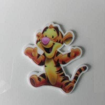 cabochon plat en résine  tigrou baby tigre  40*42mm