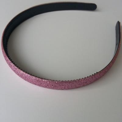 serre tête pailleté 15mm de largeur rose