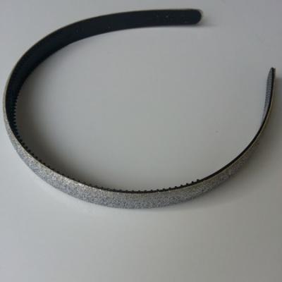 serre tête pailleté 15mm de largeur argent