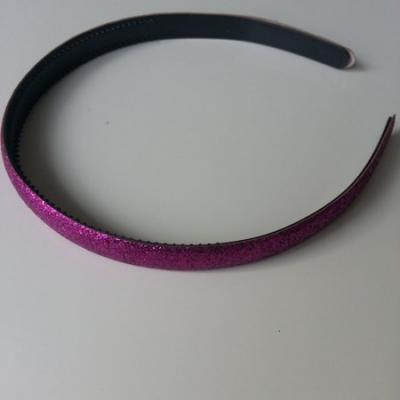serre tête pailleté 15mm de largeur violet