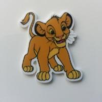 cabochon plat en résine roi lion  35*40mm