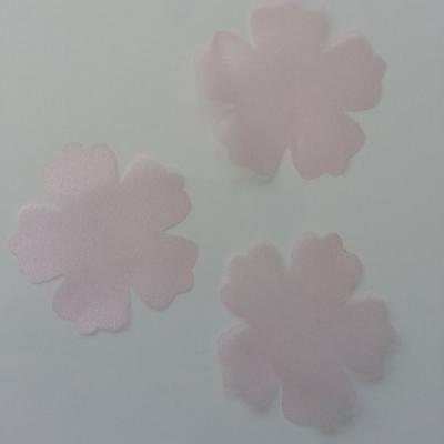 lot de 3 fleurs en organdi rose pour création de fleurs 50mm