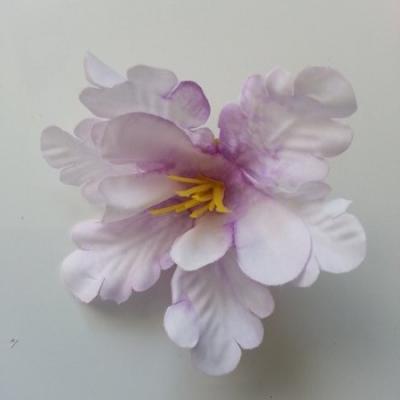 fleur orchidée  en tissu parme 60mm
