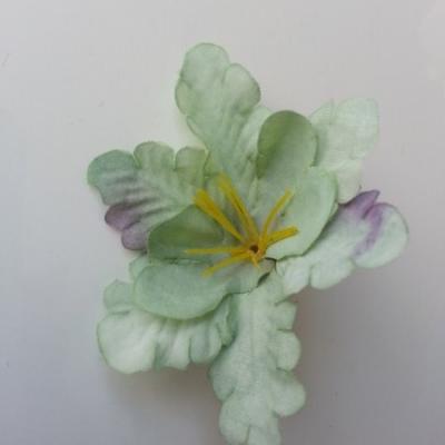 fleur orchidée  en tissu vert 60mm