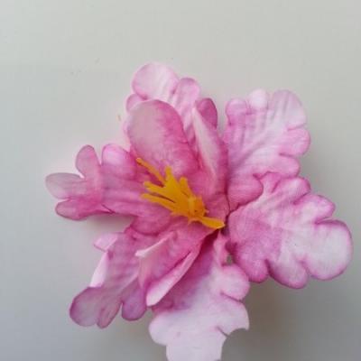 fleur orchidée  en tissu rose 60mm
