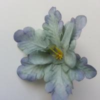 fleur orchidée  en tissu vert bleu 60mm