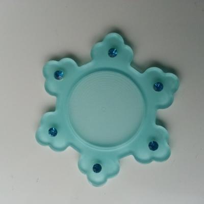 support pour cabochon  de 25mm en résine dos plat   etoile strass bleu