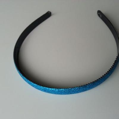 serre tête pailleté 15mm de largeur bleu turquoise