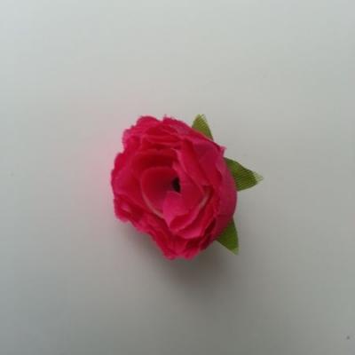 fleur en tissu rose fuchsia  30mm