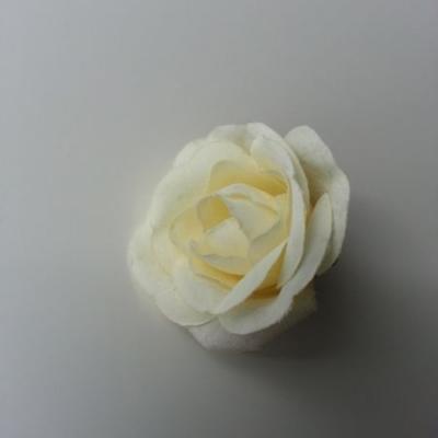 fleur en tissu 40mm ivoire