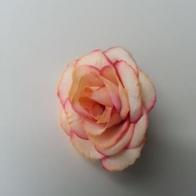 fleur en tissu 40mm vieux rose et peche