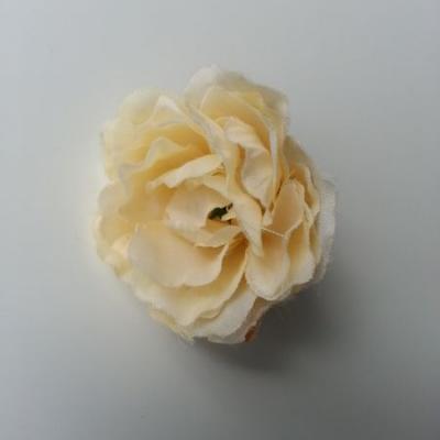 fleur artificielle en tissu de 40mm ivoire