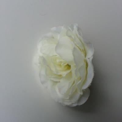 fleur tissu pivoine ivoire clair 40mm