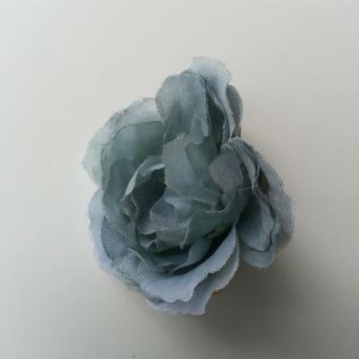 fleur tissu pivoine bleu vert 40mm