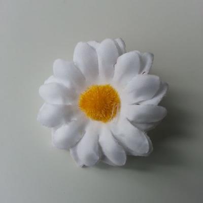 fleur marguerite artificielle en tissu 45mm blanc