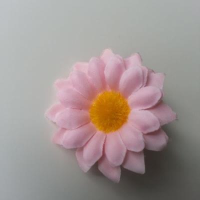 fleur marguerite artificielle en tissu 45mm rose pale