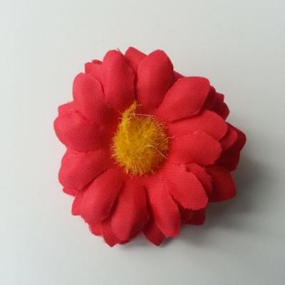 fleur marguerite artificielle en tissu 45mm rouge