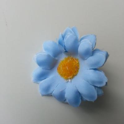 fleur marguerite artificielle en tissu 45mm bleu ciel