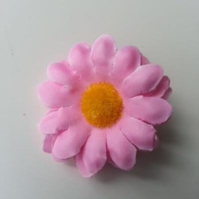 fleur marguerite artificielle en tissu 45mm rose