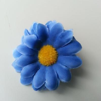 fleur marguerite artificielle en tissu 45mm bleu royal