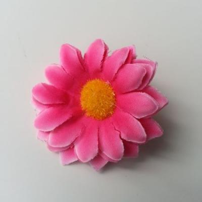 fleur marguerite artificielle en tissu 45mm rose fuchsia