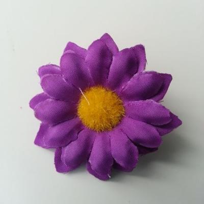 fleur marguerite artificielle en tissu 45mm violet