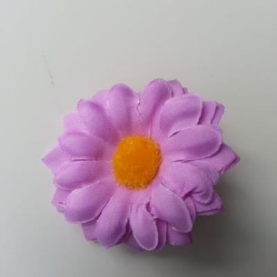 fleur marguerite artificielle en tissu 45mm mauve
