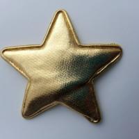 étoile matelassée dorée 70mm