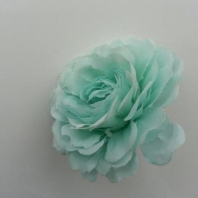 fleur artificielle en tissu vert 55mm