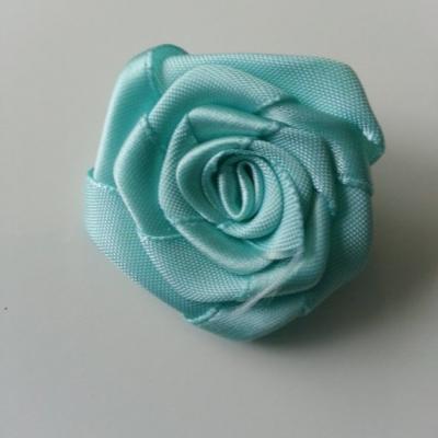 Fleur de satin plate  50mm vert