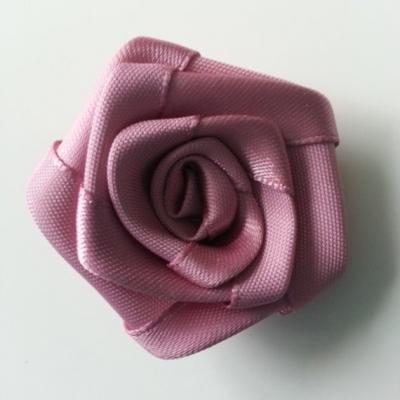 Fleur de satin plate  50mm vieux rose