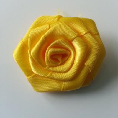 Fleur de satin plate  50mm jaune