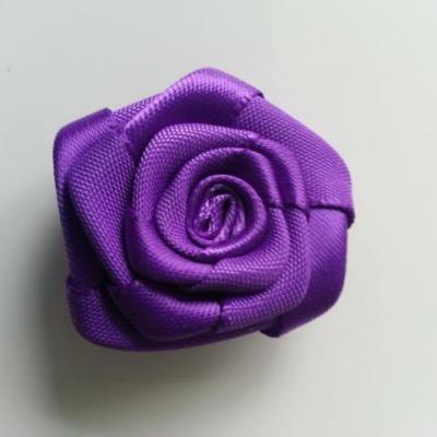 Fleur de satin plate  50mm violet