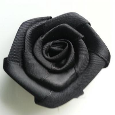 Fleur de satin plate  50mm noir