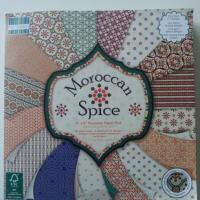"""bloc de 48 feuilles de papier  20,32 *20,32 cm """"morocan spice """" effets gemmes"""