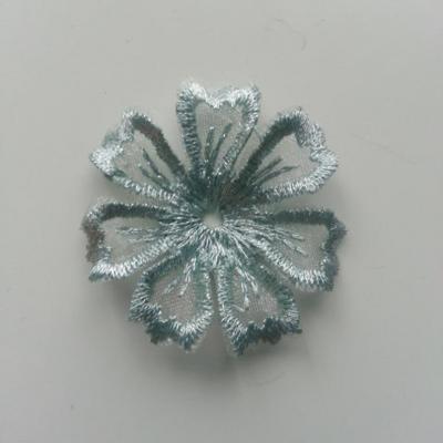 fleur en dentelle irisé 35mm vert pastel